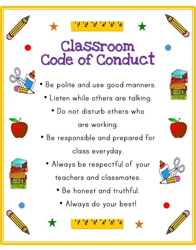 Classroom Code Of Conduct Shi 2nd Grade